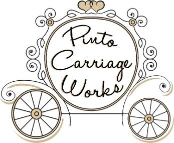 pinto carriage works logo horse drawn carriage service in northeast florida