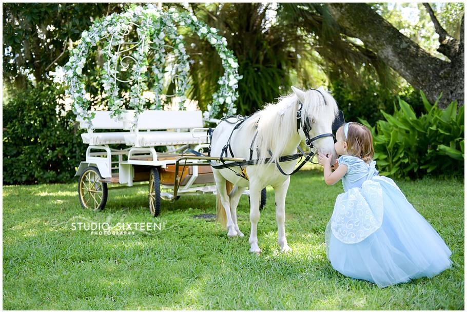Kid's princess carriage for birthday parties in Jacksonville, FL.